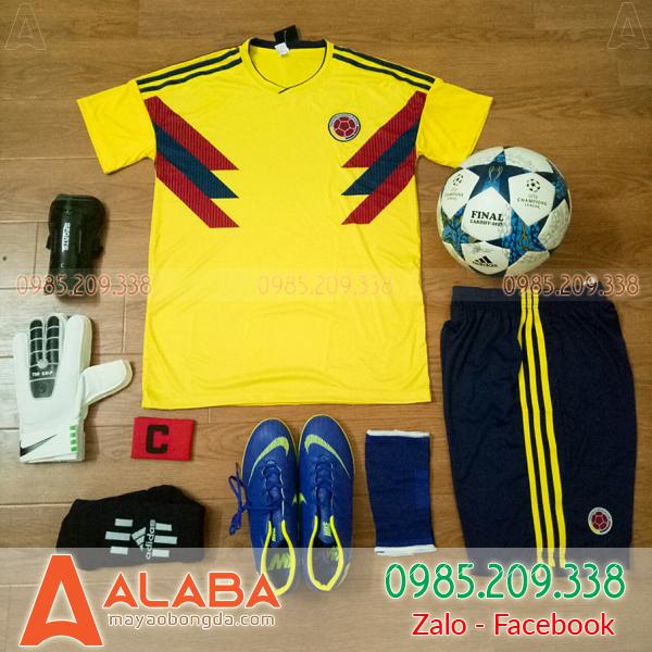 Áo Đội Tuyển Colombia Sân Nhà 2018 Màu Vàng