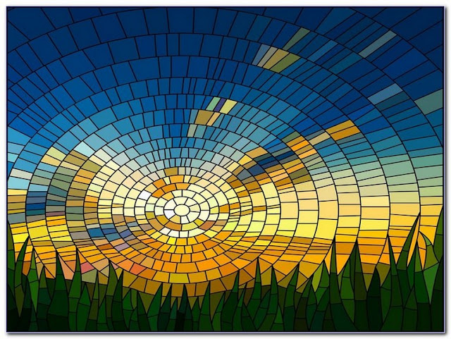 Buy Modern Stained GLASS WINDOW Film for sale
