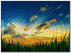 Modern Stained GLASS WINDOW Film