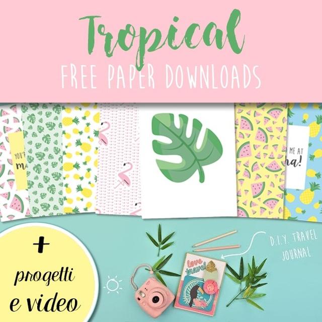Stile Tropical - carte da stampare gratis