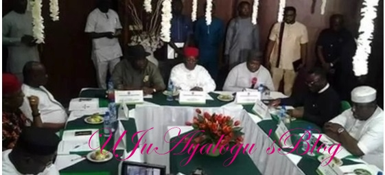 Just in: Nnamdi Kanu holds first meeting with 5 south-east governors in Enugu state