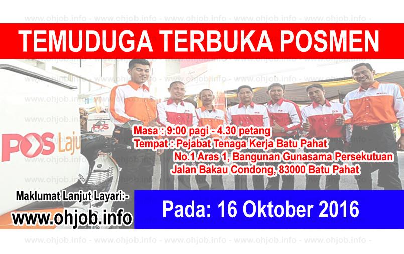 Jawatan Kerja Kosong Pos Malaysia Berhad logo www.ohjob.info oktobe 2016