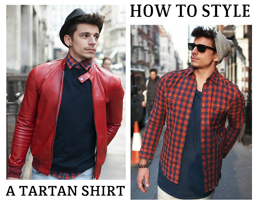 [MEN ONLY] 2 ways to style a tartan shirt!