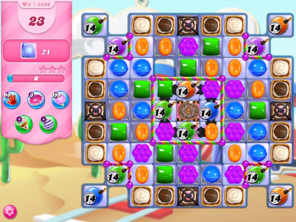 Candy Crush Saga level 4450