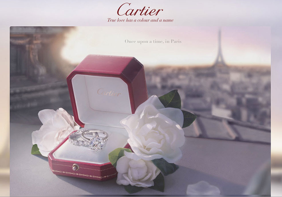 cartier love ring advertising