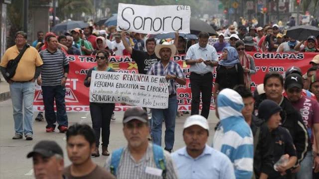 México, escenario de una protesta del CNTE contra la reforma educativa