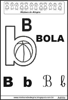 Alfabeto ilustrado letra B