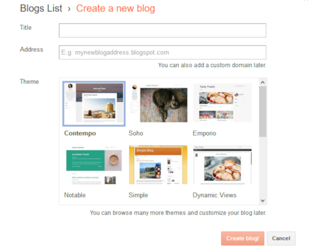 Blogger Review - Setting Up a New Blog