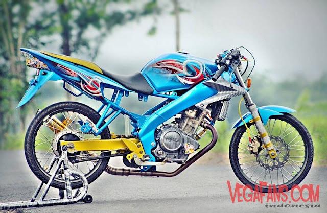 Foto Modifikasi Vixion Racing Warna Biru Simple