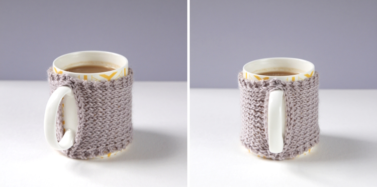 HOW TO MAKE A SIMPLE KNITTED MUG COZY