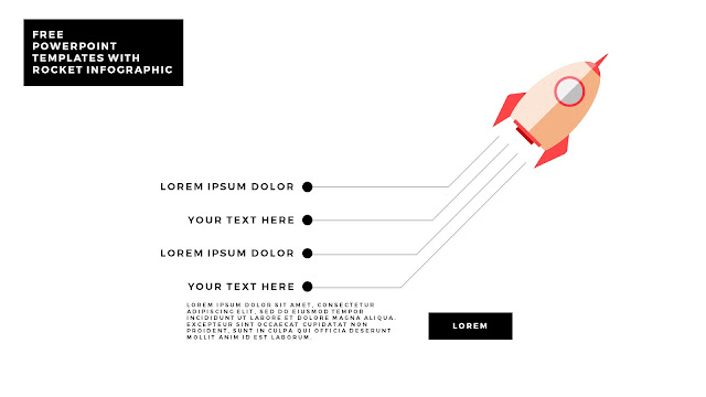 Free PowerPoint Template with Rocket Infographics and white Background Type A