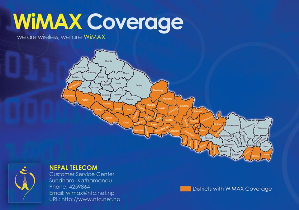 Ntc WiMAX coverage