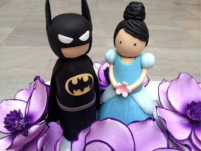 Eat Cake Be Merry Batman And Cinderella Cake Topper