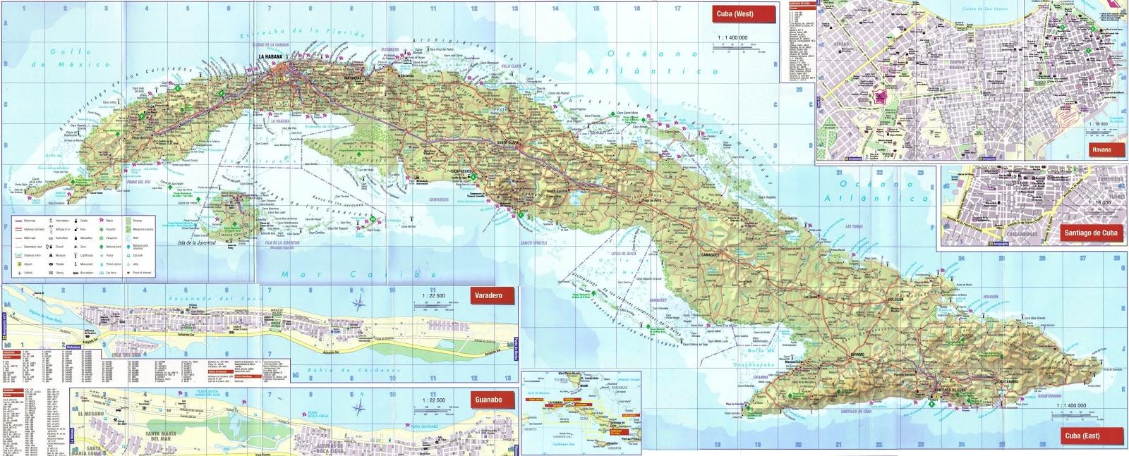 Cuba | Mapas Geográficos de Cuba