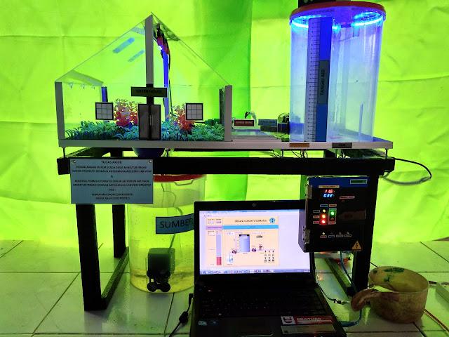 Tugas Akhir : Perancangan Sistem SCADA Pada Miniature Irigasi Curah Otomatis Berbasis Antarmuka Arduino Lab-View (Teknik Elektro / Teknik Listrik)