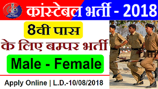 Rajasthan Police Constable Recruitment 2018 - Apply Online for 623 Police Constable Posts