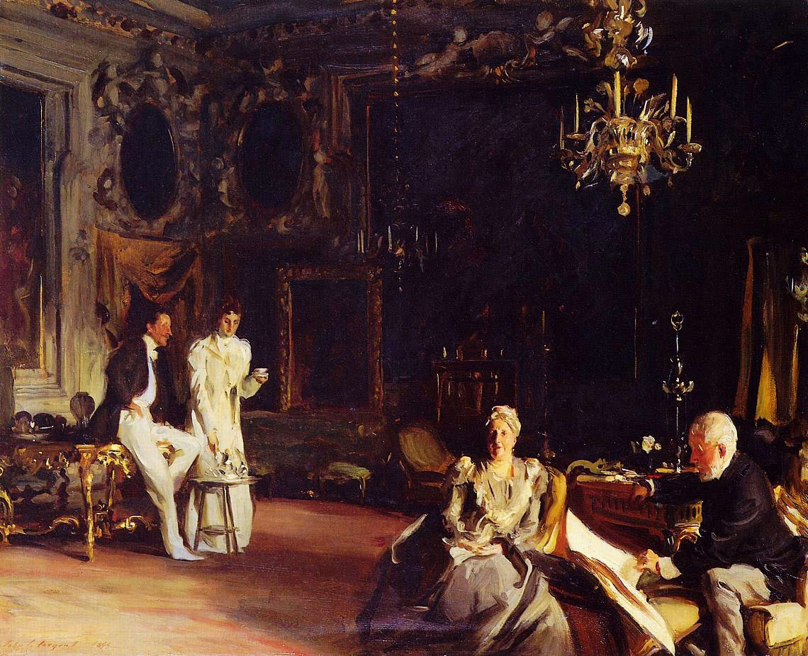 John Singer Sargent's painting of the Curtis Family in the Palazzo Barbaro in Venice.