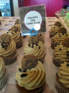Cookie Dough Cupcakes at Gigi's Cupcakes Orlando