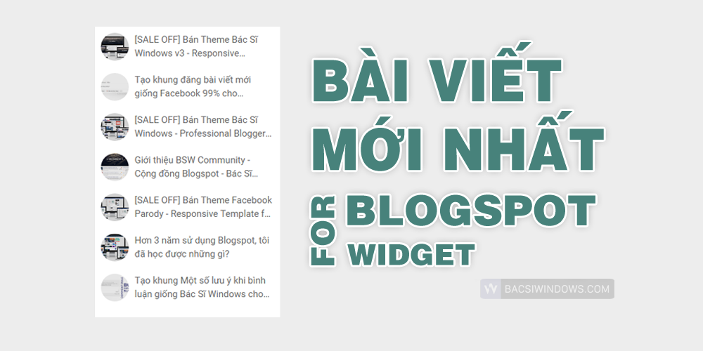 Tạo widget Bài Viết Mới Nhất với Avatar bo tròn tuyệt đẹp