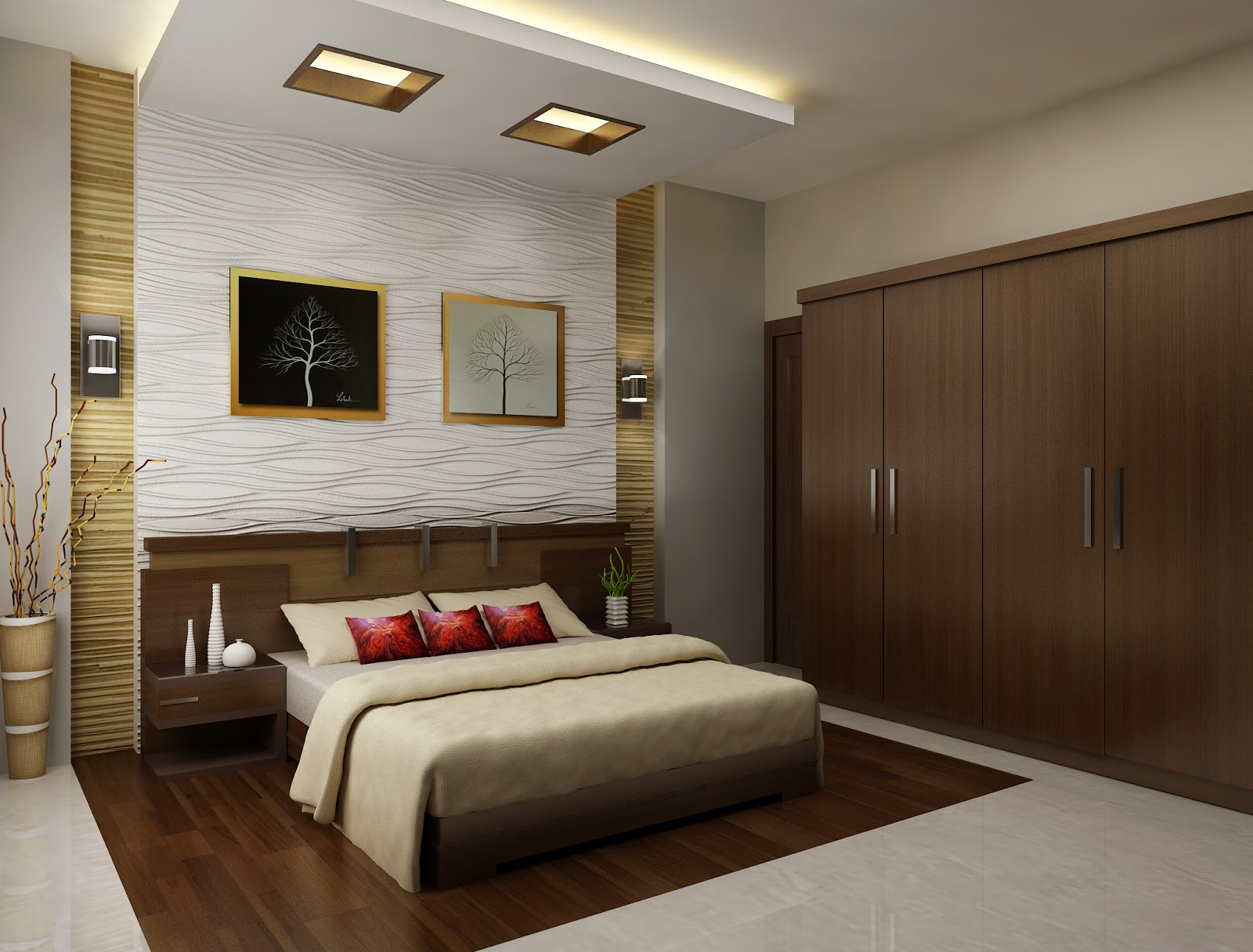 bedrooms interior designs. Kerala Interior Design Bedroom  Apartment