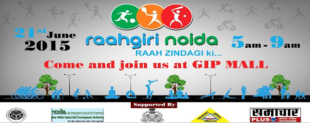 Raahgiri Noida to mark the International Yoga Day in Noida