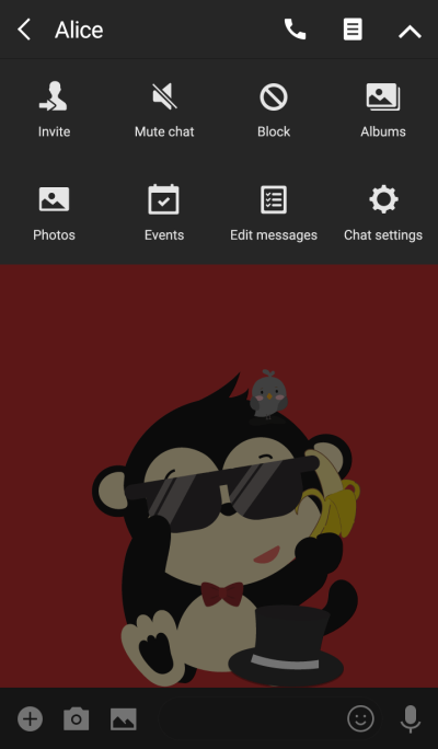 Monkey in the night. (Black ver.)