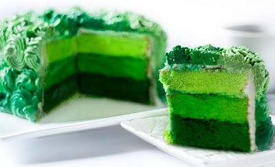 Foto Ombre Cake Hijau