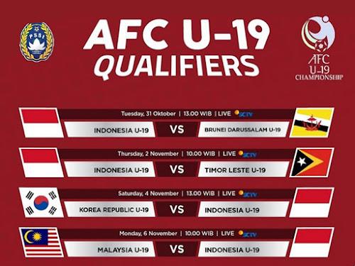 Jadwal timnas U 19 AFC