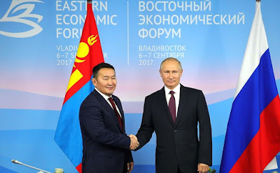 Vladimir Putin met with President of Mongolia Khaltmaagiin Battulga on the sidelines of the Eastern Economic Forum.