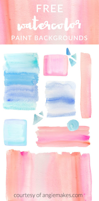 Gratis Ombre Watercolor Backgrounds by Angie Makes