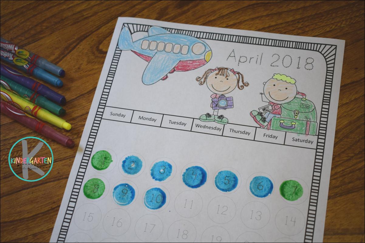 Kindergarten Calendar Practice : Kindergarten worksheets and games free