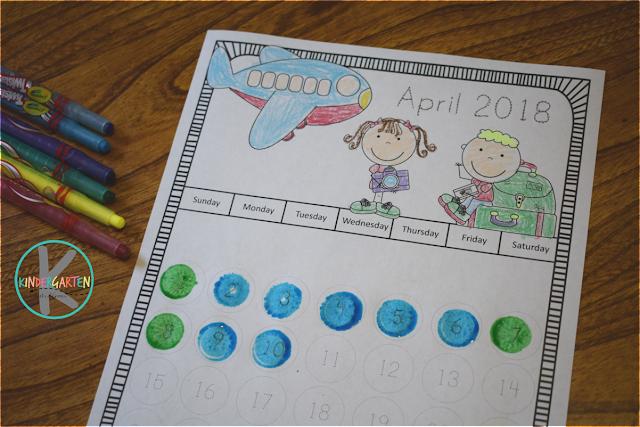 kindergarten printable calendar
