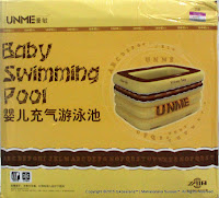 UNME Rectangular Air Filled Baby Swimming Pool