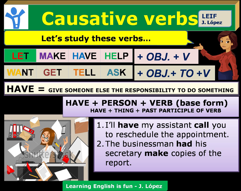 English Intermediate I U4 Causative Verbs Special Verbs