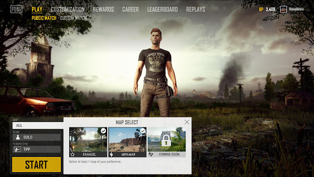 PUBG Adding Map Selection on PC