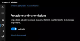 anti manomissione windows 10