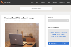 Feather Awesome Blogger Template