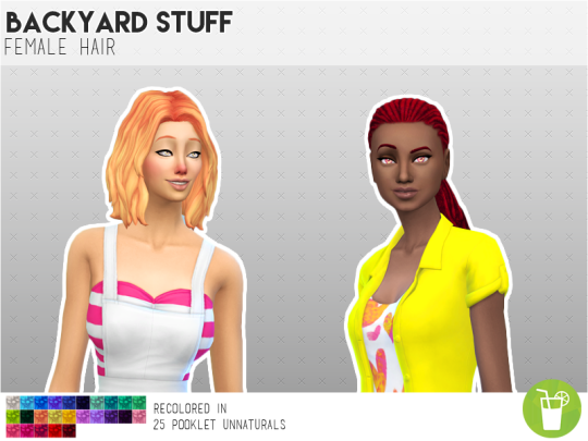 blog mint rogue and backyard stuff hair recolors by flamingblaze