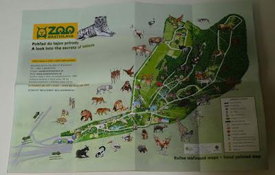 Un domingo en el zoo lobo: mapa