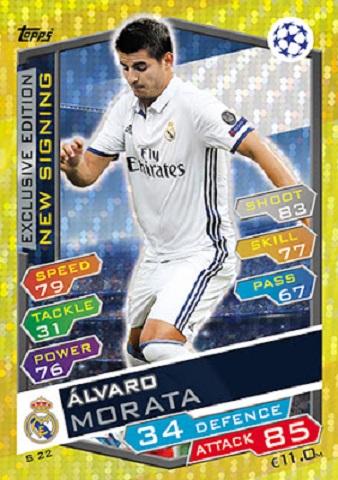 ARS17 Match Attax Liga de Campeones 16//17 Alexis Sánchez Arsenal no