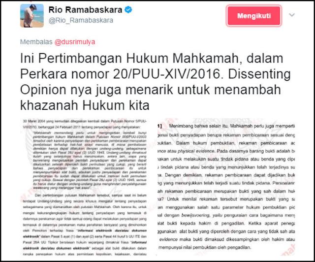 Nah lho! Chat Asli Atau Palsu, HRS dan FH Tidak Dapat Dipidana, Ini Dasar Hukumnya!
