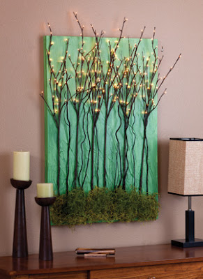Craft & Creativity: DIY Lighted Natural Wall Art