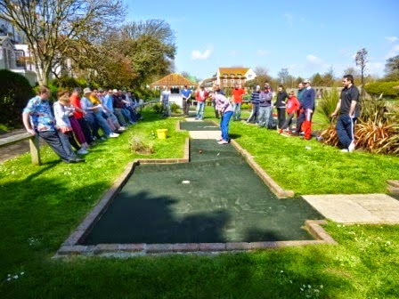 Richard Gottfried at the BMGA British Masters at Splash Point Mini Golf in Worthing