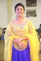 Actress Eesha in Yellow Choli Blue Ghagra at Darshakudu music launch 036.JPG