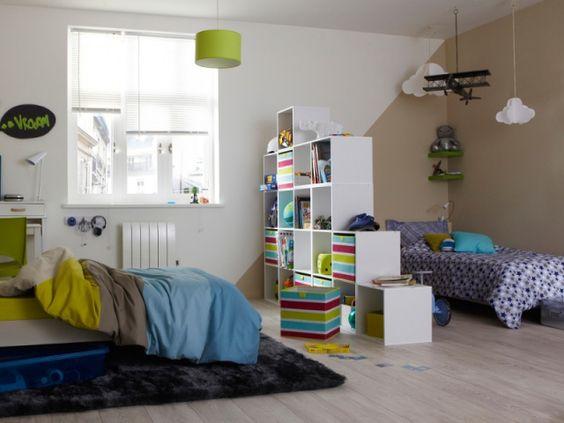 D limiter des espaces dans une chambre pour deux un atelier au fond des bois - Separation chambre enfant ...