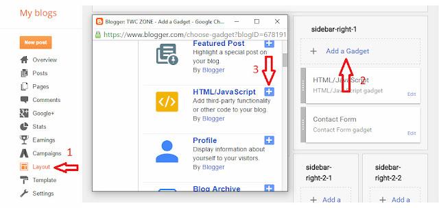 Adding html for blogger subscription box 1