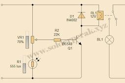 Rangkaian Sensor Cahaya Lampu Otomatis Dengan LDR