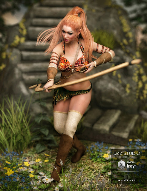 Jungle Goddess Outfit Textures