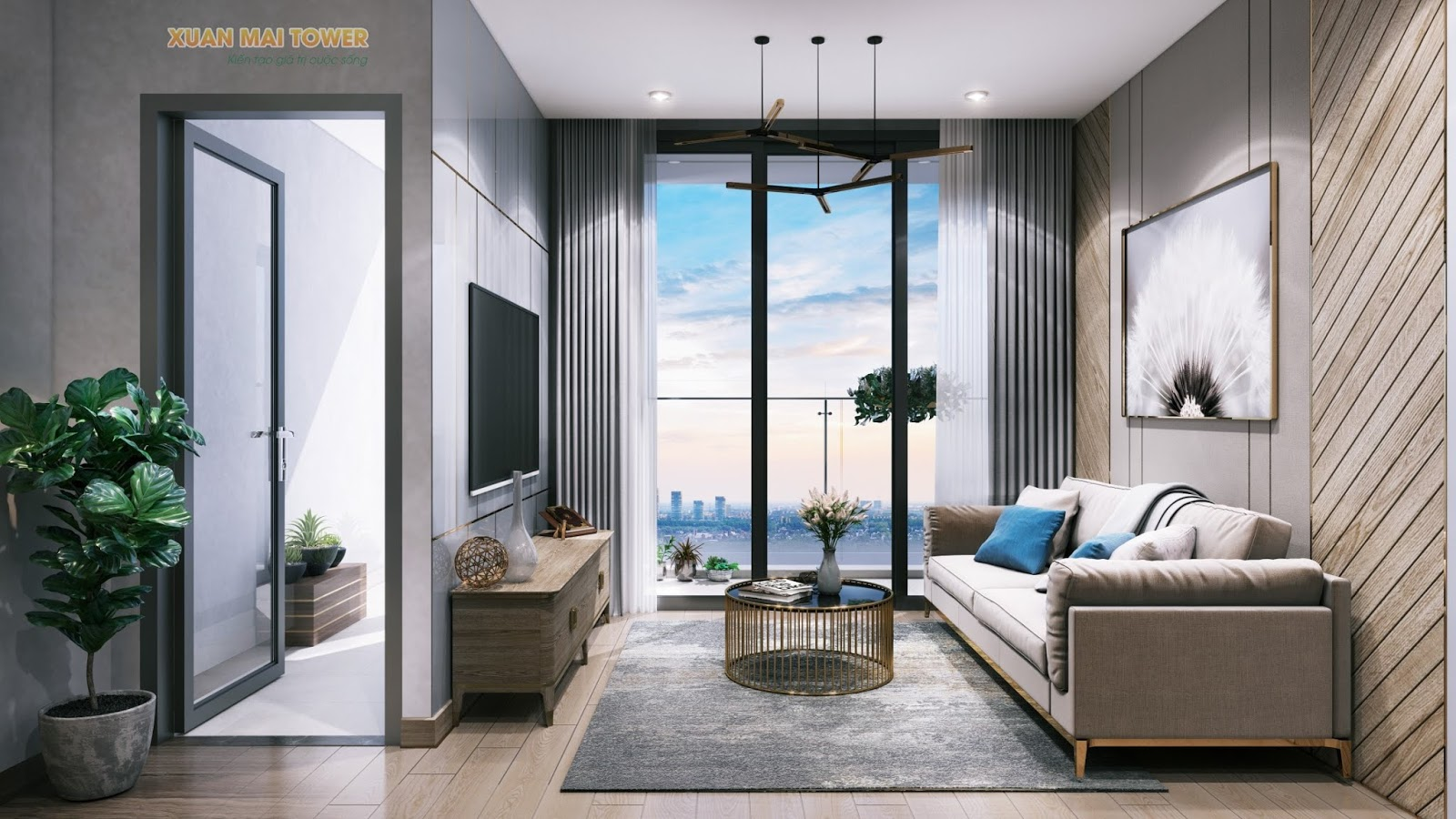 Phòng khách chung cư Xuân Mai Thanh Hoá