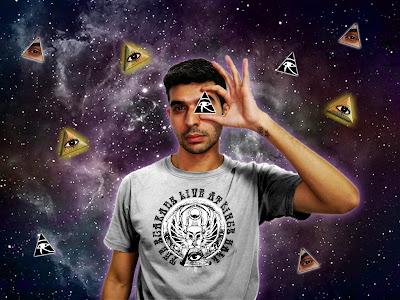 Edit Fotografico Surreal por el escritor artista y modelo Sir Helder Amos utilizando las creencias egipcias y simbolismos illuminati.